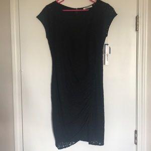 DKNY Black Eyelit Dress